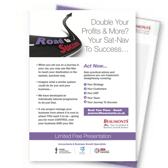 Double Your Profits | Your Sat-Nav To Business Success | Beaumonts Accountants | Wakefield